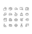 line delivery icons vector image vector image