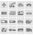 line vehicles icon set vector image vector image