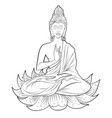 lord buddha in meditation for buddhist festival of vector image vector image