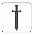 Medieval sword icon silhouette vector image
