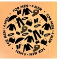 Mens wear and accessories shapes pattern vector image