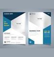 modern blue brochure of hexagon template design vector image