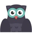 Owl bird icon flat vector image vector image