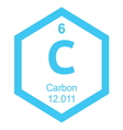 Periodic table carbon vector image vector image