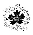 print thanksgiving decorated maple leaf vector image vector image
