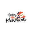 queen halloween sticker for social media vector image vector image