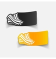 realistic design element bacon vector image