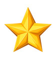 realistic gold star on white vector image vector image