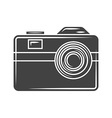 Retro photo camera Black icon logo element flat vector image
