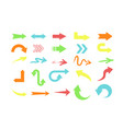 set of different colors arrows vector image vector image