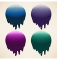 Set of dripping ink splatters vector image vector image