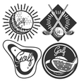Set of vintage golf labels badges and emblems vector image vector image