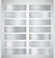 set silver gradient banners templates vector image