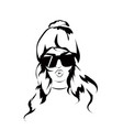 sexy and funny fashion girl wearing sunglasses and vector image vector image