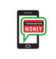 smartphone transfer money - icon concept vector image