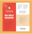 snowman business company poster template with vector image vector image