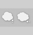 speech bubbles on transparent background vector image vector image