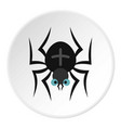 spider icon circle vector image vector image