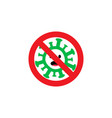 stop spreading covid-19 virus logotype dangerous vector image