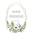 stylish floral design round frame vector image vector image