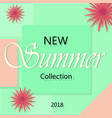 summer fashion shopping banner template vector image vector image