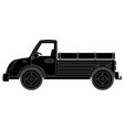 truck black technical drawing vector image vector image