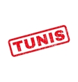Tunis Rubber Stamp vector image vector image