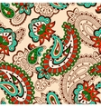 Turkish cucumber seamless pattern beige style vector image