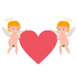valentines day cupid character vector image vector image