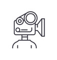 video camera production linear icon sign symbol vector image vector image