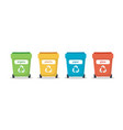 waste sorting with different colorful vector image vector image