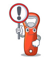 with sign beer bottle opener isolated on cartoon vector image vector image