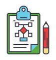 business scheme marketing plan management vector image