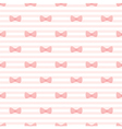 Pink bow and stripes pattern or tile background vector image