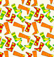 Seamless Pattern with Socks Background vector image