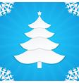christmas postcard tree 1 vector image
