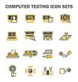 Pc test icon vector image
