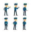 Police officer character vector image