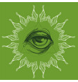 a magical eye in the style of boho contour for vector image vector image