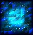 abstract blue background of squares with triangles vector image
