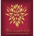 Abstract gold hand drawing flower vector image