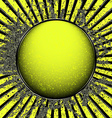 Acid yellow ball vector image vector image