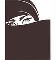 arabian girl vector image vector image