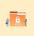arabic businessman with hacker padlock password vector image vector image