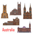 australia buildings city architecture landmarks vector image vector image