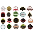 Banners labels and stickers set vector image vector image