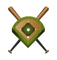 baseball field diamond form icon graphic vector image vector image