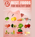 best food for skin vector image vector image
