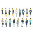 big set business womens lady management vector image vector image