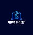 bird home color design template vector image vector image
